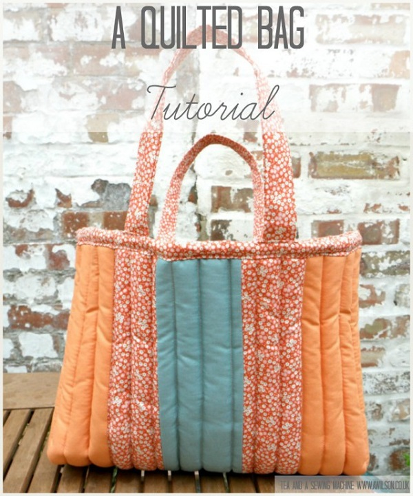 Tutorial: Squishy quilted tote bag
