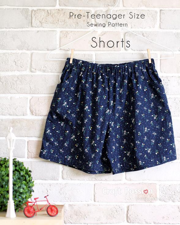 Free pattern: Shorts for tweens