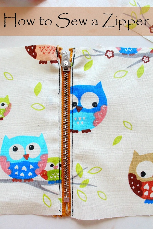 Tutorial: Sew a simple zipper