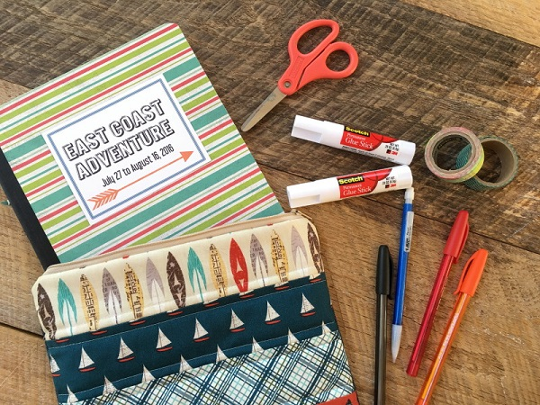 Tutorial: Quilted zip pouch for a composition book