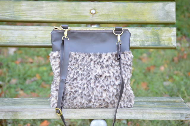Tutorial: Faux fur cross body bag