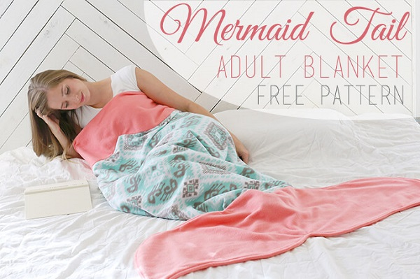 Free pattern: Mermaid tail blanket for adults – Sewing