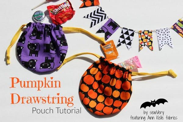 Tutorial: Little round drawstring pouch