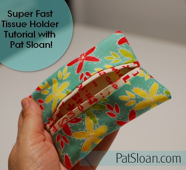 Tutorial: Easy fabric travel tissue holder