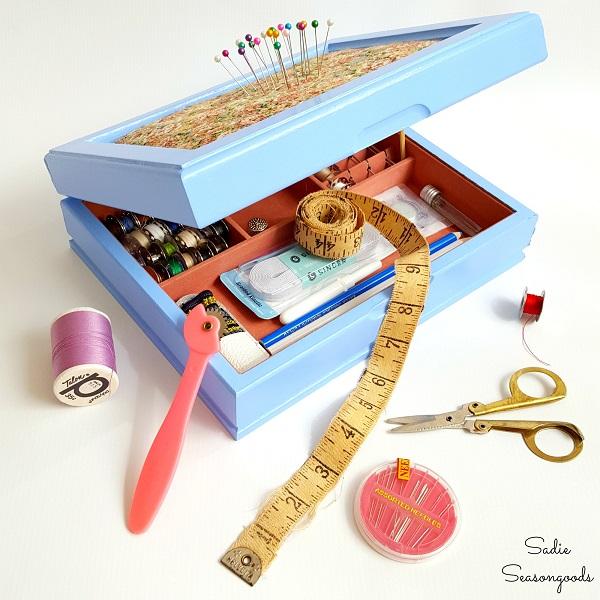 Tutorial: Repurposed jewelry box sewing kit