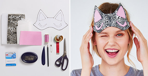 Free pattern: Kitty sleep mask