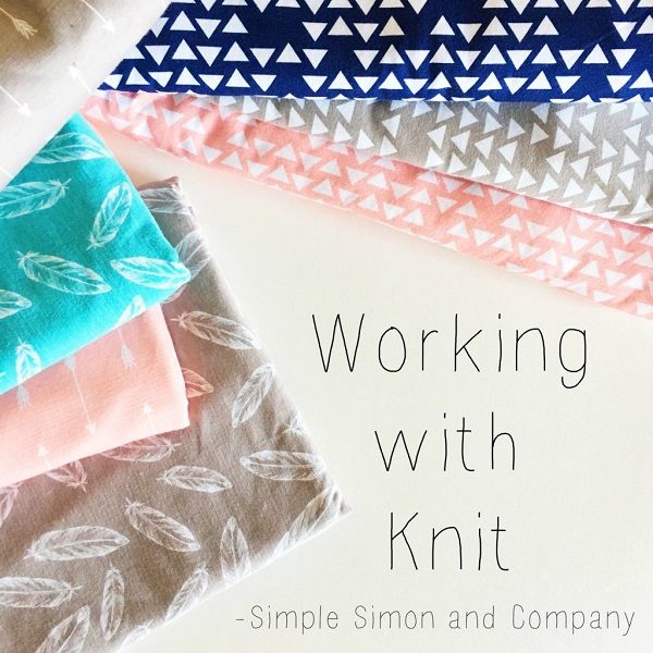 Great tips for sewing on knit fabrics