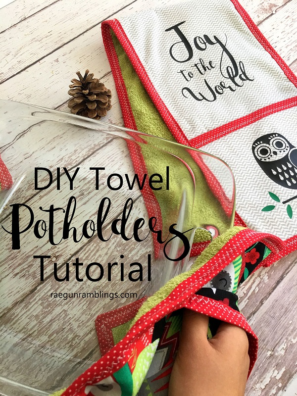 Tutorial: Two hand kitchen towel oven mitt