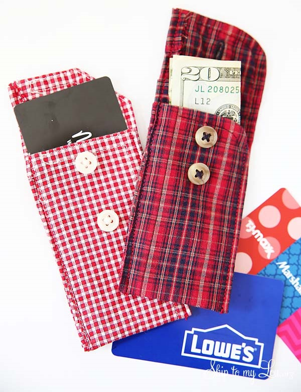 Tutorial Easy Recycled Shirt Cuff Wallet Sewing