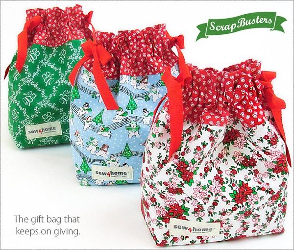 Tutorial: Mini drawstring gift bags