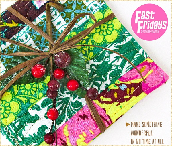 Tutorial: Free motion quilted scrap coasters