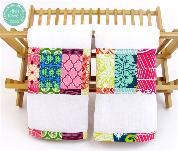 Tutorial: Scrappy patchwork dish towels