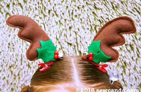 Tutorial: Reindeer antler hair clips