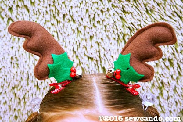 Tutorial: Reindeer antler hair clips