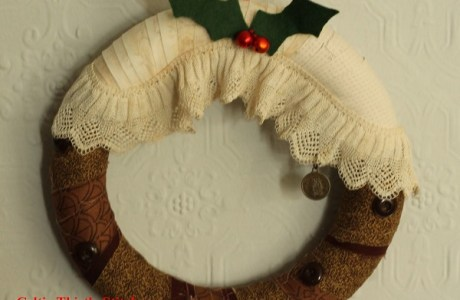 Tutorial: Christmas pudding wreath, no sewing required