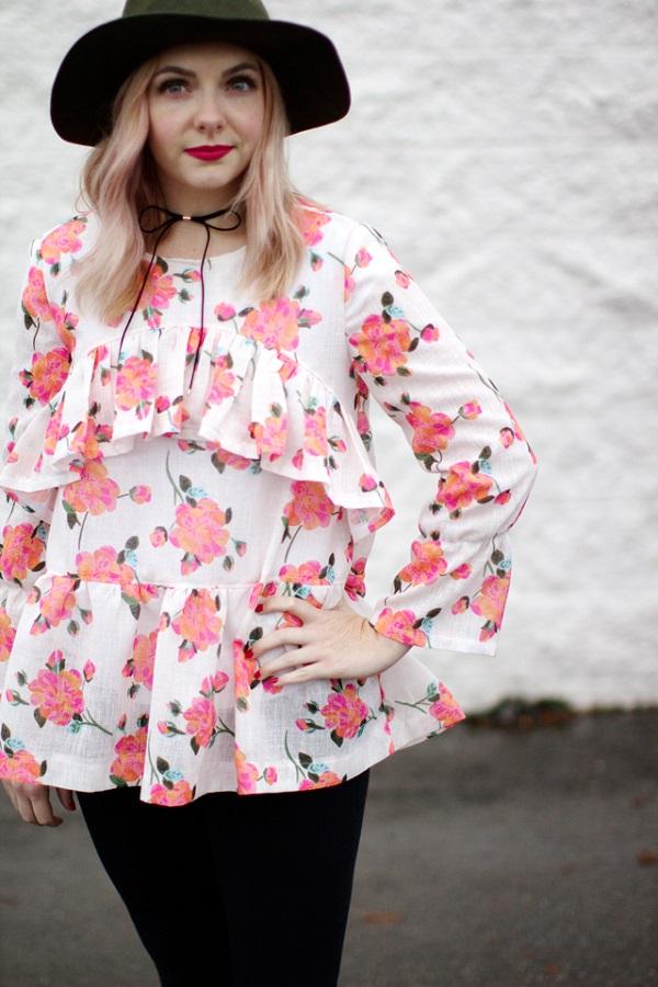 Free Pattern Boho Ruffle Blouse Sewing