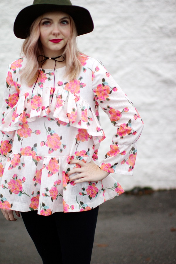 Free pattern: Boho Ruffle Blouse – Sewing