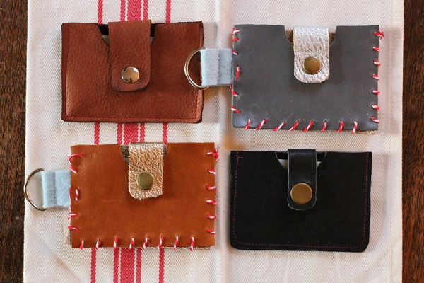 Tutorial: Leather wallet gift card holders