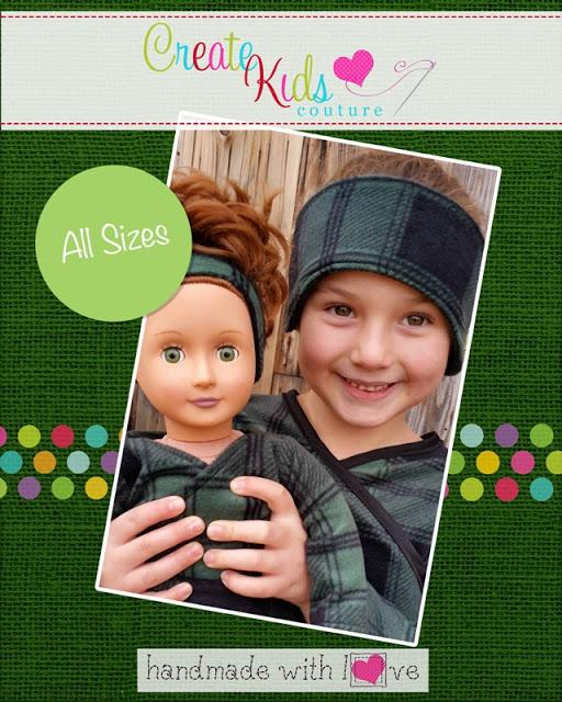 Free pattern: Fleece ear warmer headband in all sizes