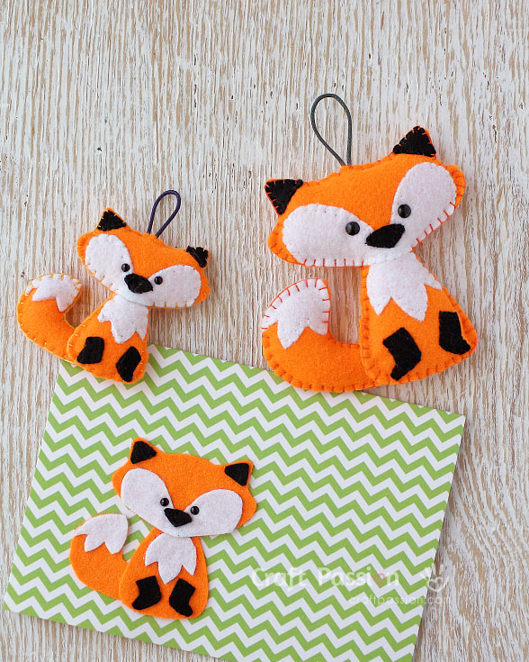 Free pattern: Felt fox Christmas ornament