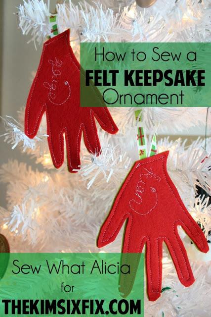 Tutorial: Easy felt keepsake ornament