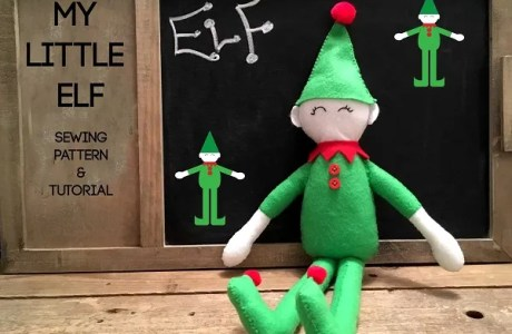 Free pattern: Little elf felt doll