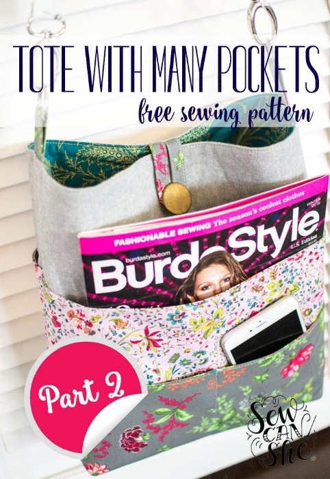 Free pattern: Tote With Many Pockets