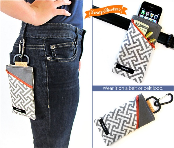 Tutorial: Phone pouch for your belt or purse