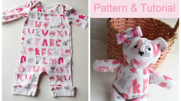 Free pattern: Memory bear from baby clothes