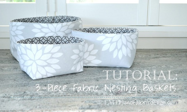 Tutorial: Nesting fabric storage baskets