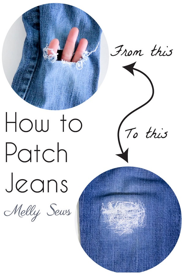 Tutorial: Patching your jeans