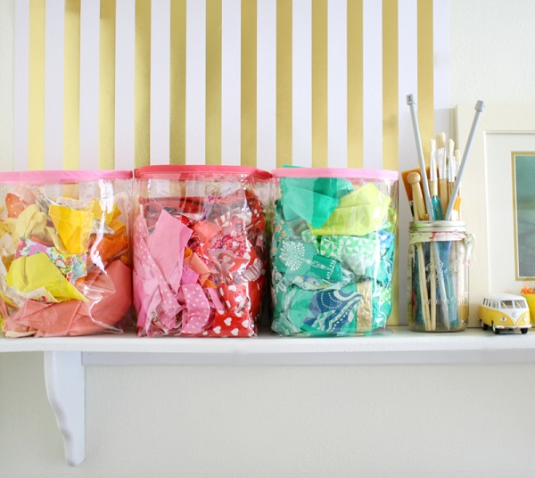 Tutorial: Clear vinyl storage baskets