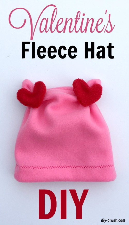 Tutorial: Valentine's Day fleece hat