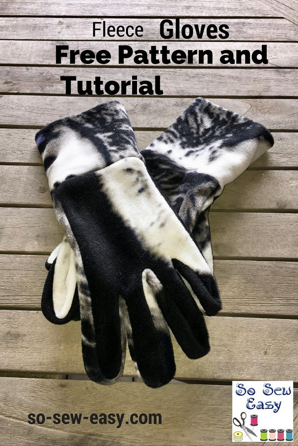Free pattern: Fleece gloves