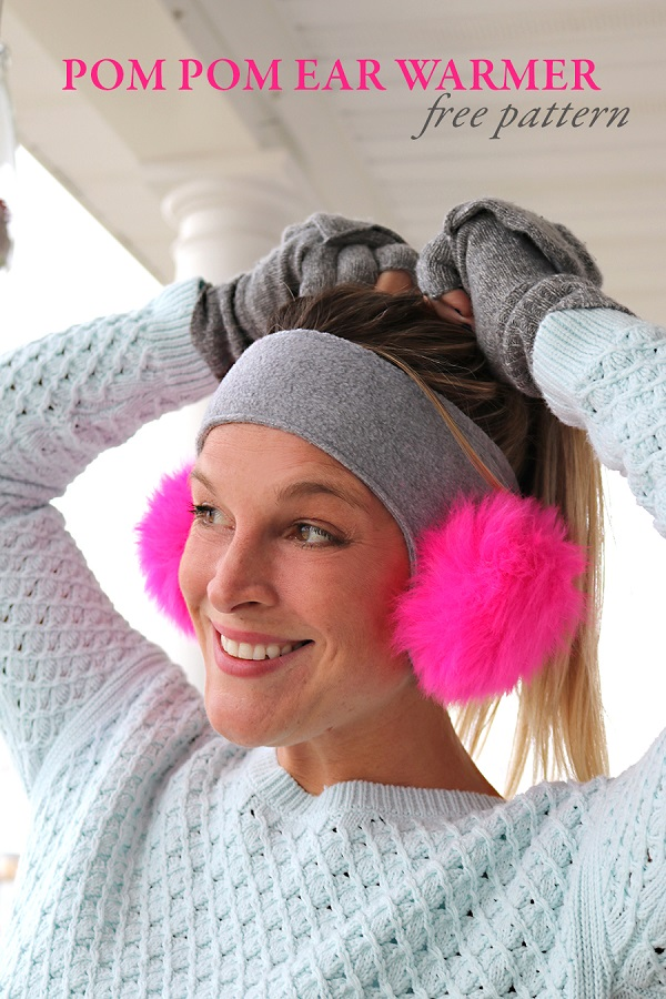 Free pattern: Pom pom ear warmer headband