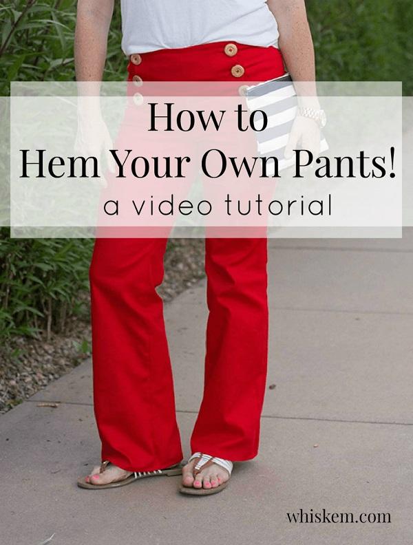 Video tutorial: How to hem pants