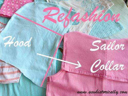 Tutorial: Refashion a hood into a sailor collar
