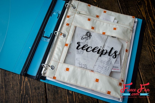 Tutorial: Zip pouch for a binder or planner