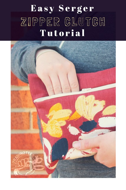 Tutorial: Clutch bag with a serged zipper
