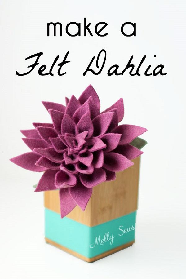 Tutorial and pattern: Felt dahlia