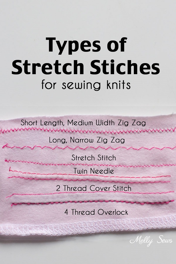 Tutorial: Stretch stitches for sewing knits