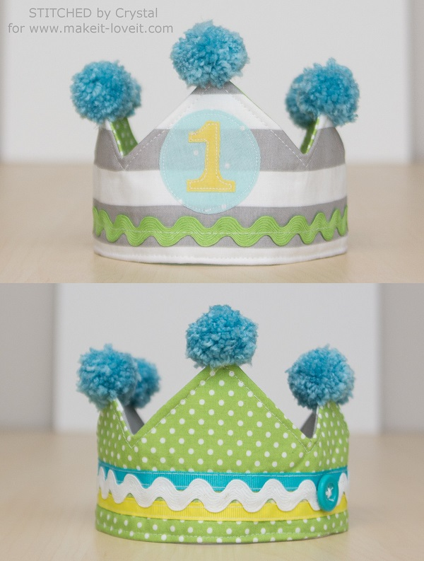 Tutorial: Kids reversible fabric crown