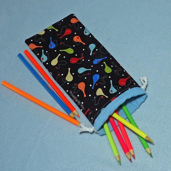 Tutorial: Drawstring pencil case, no zipper needed