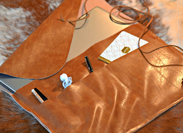 Tutorial: Modern leather laptop sleeve