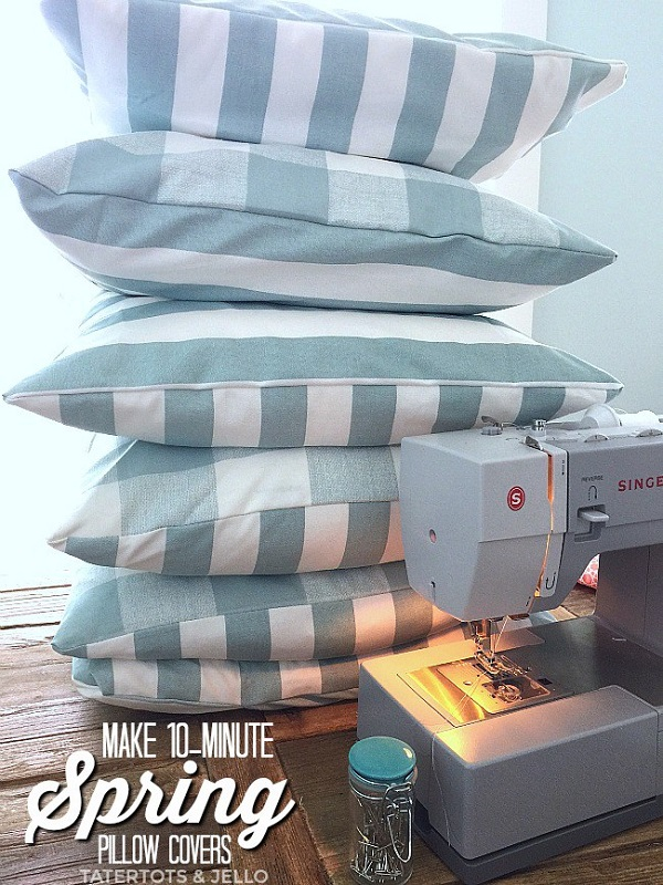 Tutorial: Easy 10-minute pillow covers
