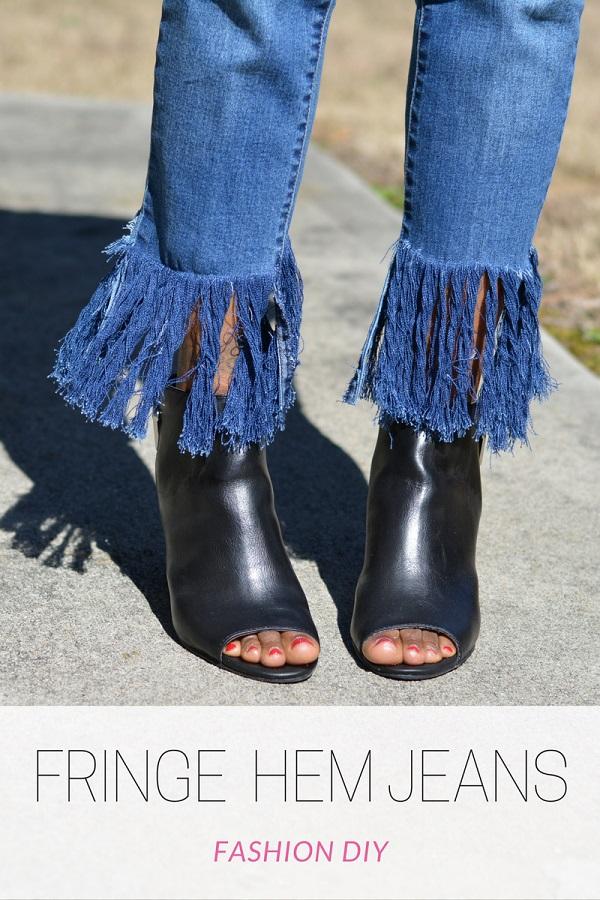 Tutorial: Fringe hem jeans
