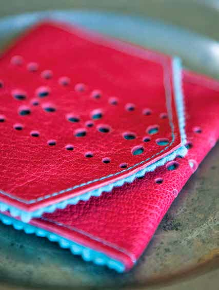 Tutorial Punched leather felt coin purse