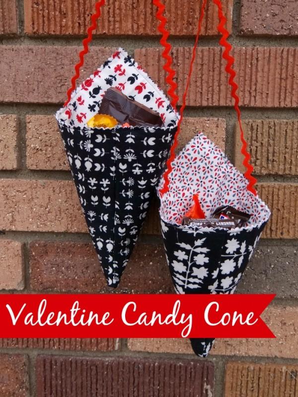 Tutorial: Fabric Valentine candy cones