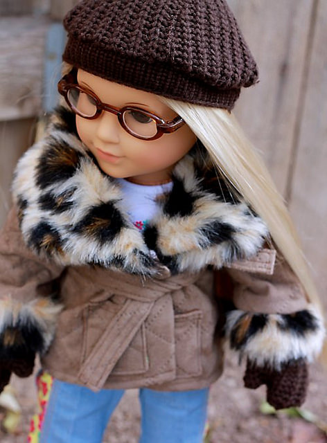 "Tutorial and pattern: Hat and mittens for 18"" doll"
