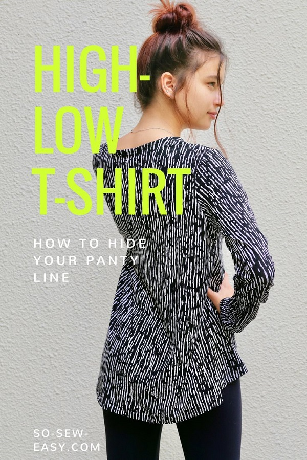 Tutorial and pattern: Women's high low shirt